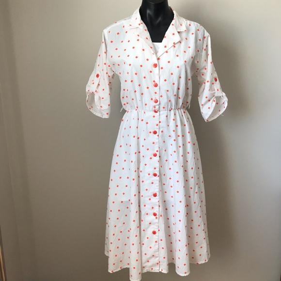 Vintage semi sheer midi dress